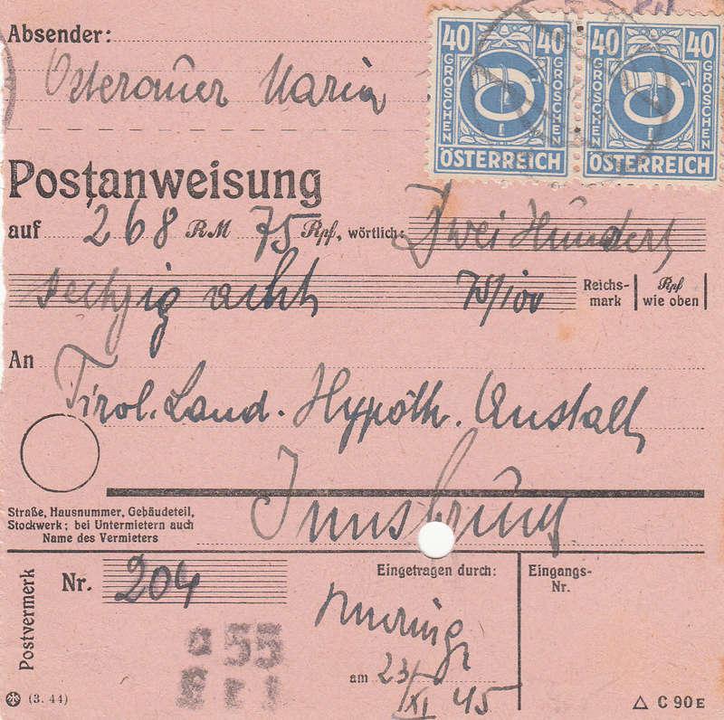 Posthornzeichnung  -  ANK 697-713  -  Belege - Seite 2 Img39