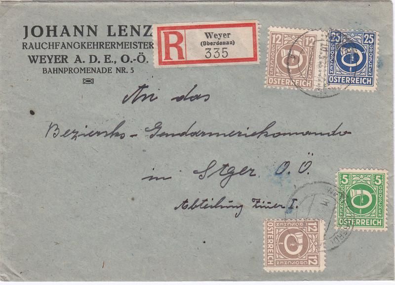 Posthornzeichnung  -  ANK 697-713  -  Belege - Seite 3 Img47