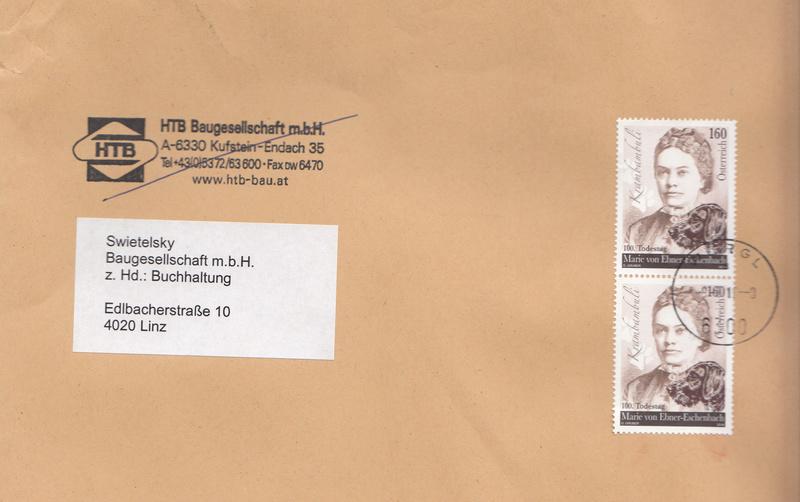 Sammlung Bedarfsbriefe Österreich ab 1945 - Seite 8 Img54