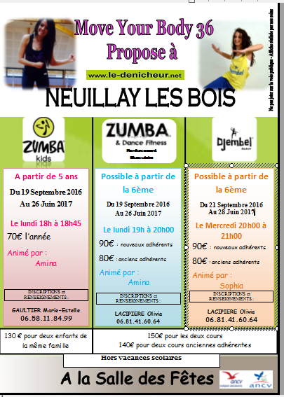 2016/2017 - NEUILLAY LES BOIS - Cours de Zumba 00112