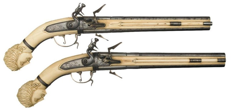 Les pistolets hollandais à crosse d'ivoire. Sans_t15