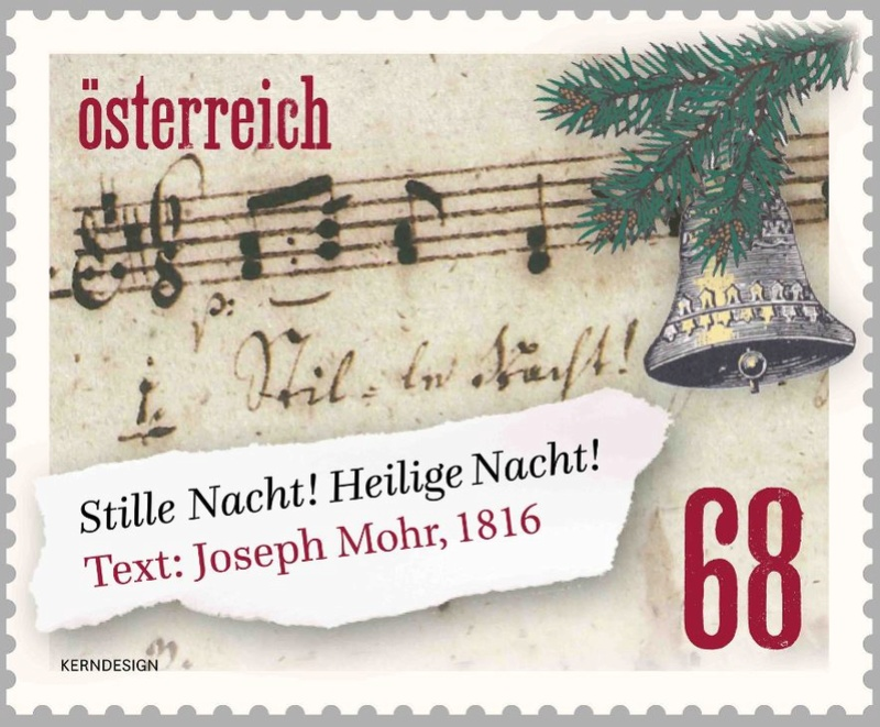 """Weihnachten - Sondermarke """"Weihnachten 2016 - Stille Nacht Liedtext""""  7_mark11"""