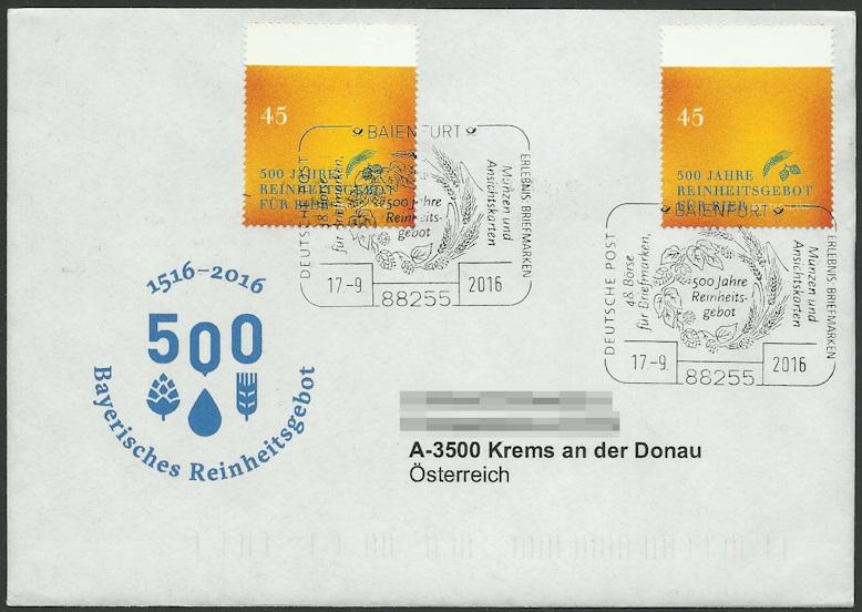 Briefmarken - Bier: Briefmarken, Stempel,Belege und mehr Egon_b10
