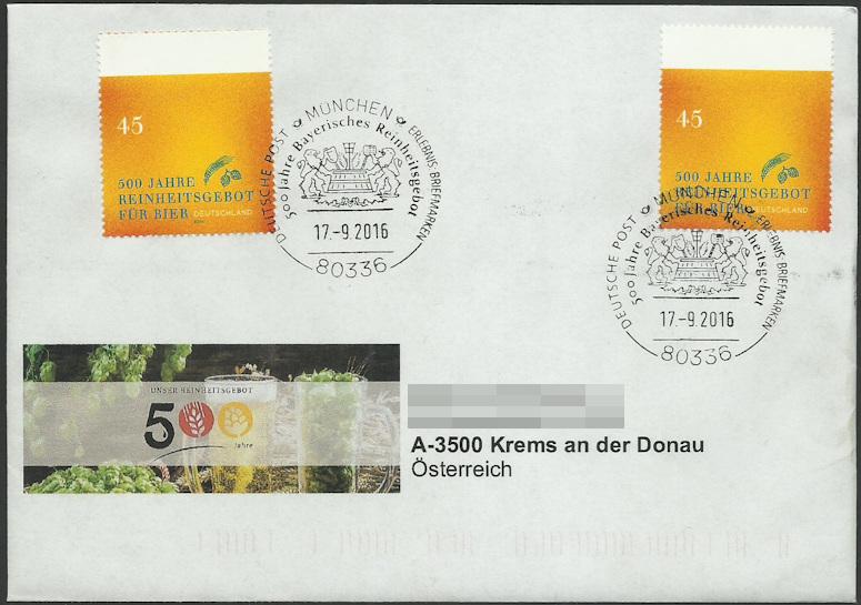 Briefmarken - Bier: Briefmarken, Stempel,Belege und mehr Egon_b11