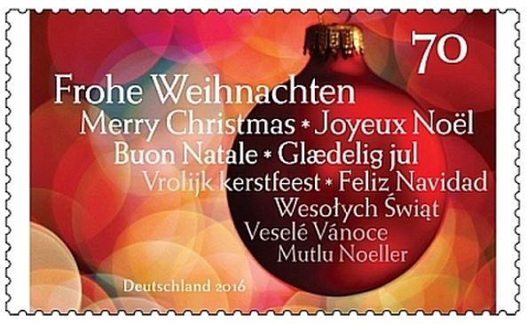 Deutschland - Ausgabe Weihnachtsmarke verschoben Weihna13