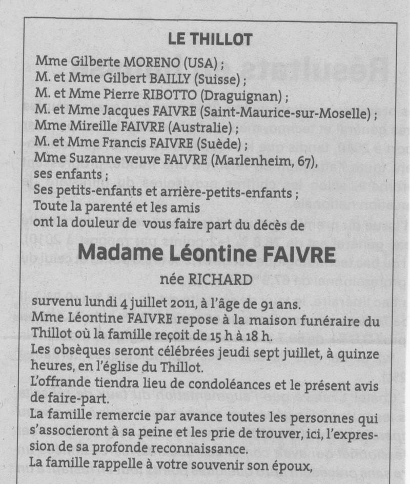 LE THILLOT - SOUVENIRS DE LÉONTINE RICHARD VVE ERNEST FAIVRE 18_00110