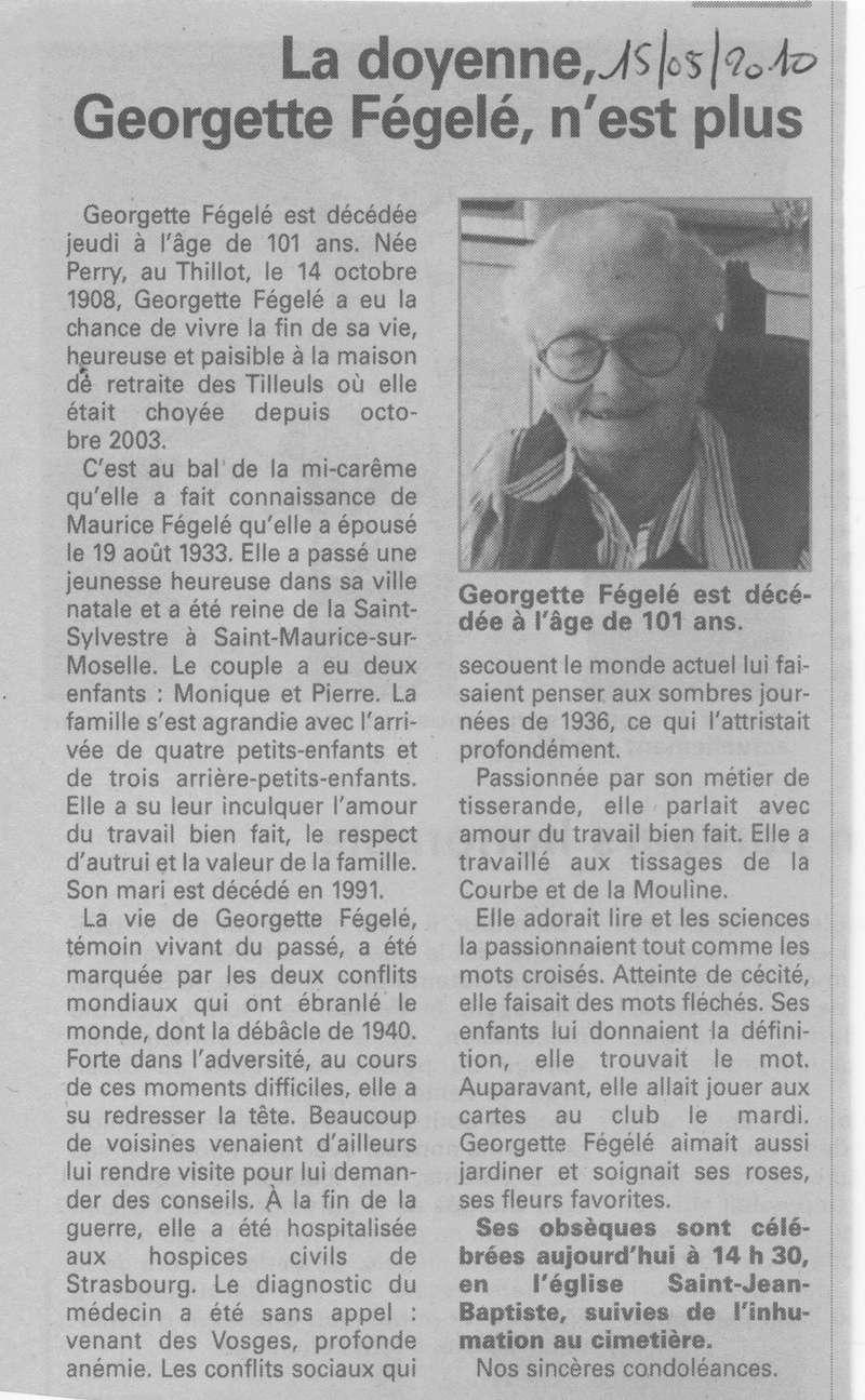 LE THILLOT - SOUVENIRS DE GEORGETTE PERRY VVE MAURICE FEGELE 19_00110