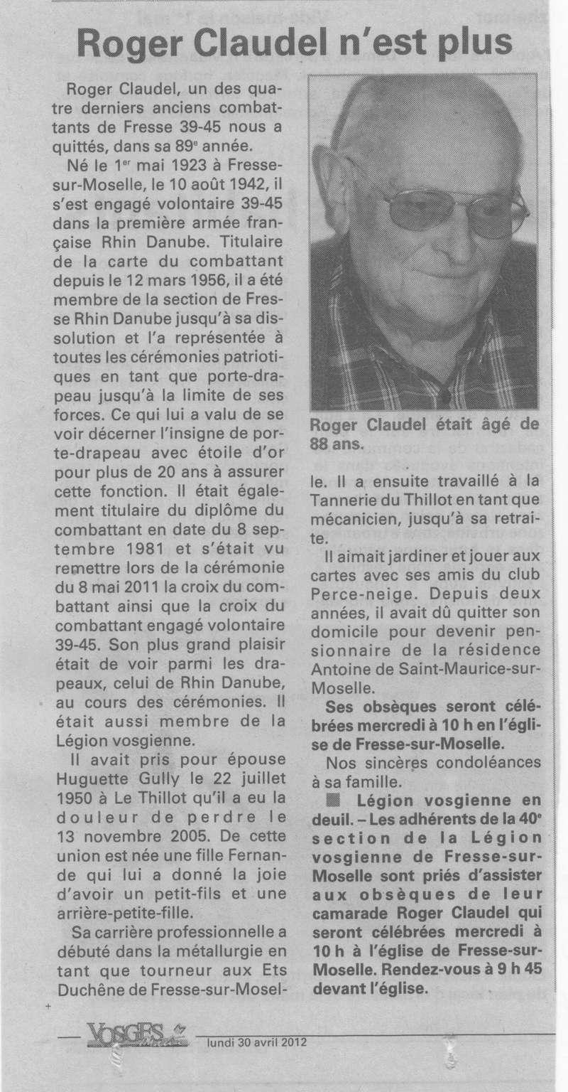 FRESSE SUR MOSELLE - SOUVENIRS DE ROGER CLAUDEL 31_00110