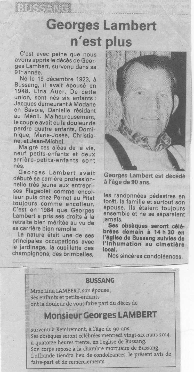 BUSSANG - SOUVENIRS DE GEORGES LAMBERT  33_00110