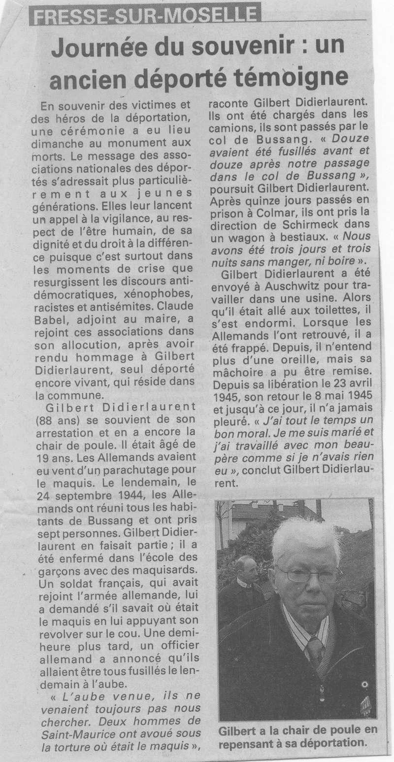 BUSSANG - SOUVENIRS DE GILBERT DIDIERLAURENT 39_00110
