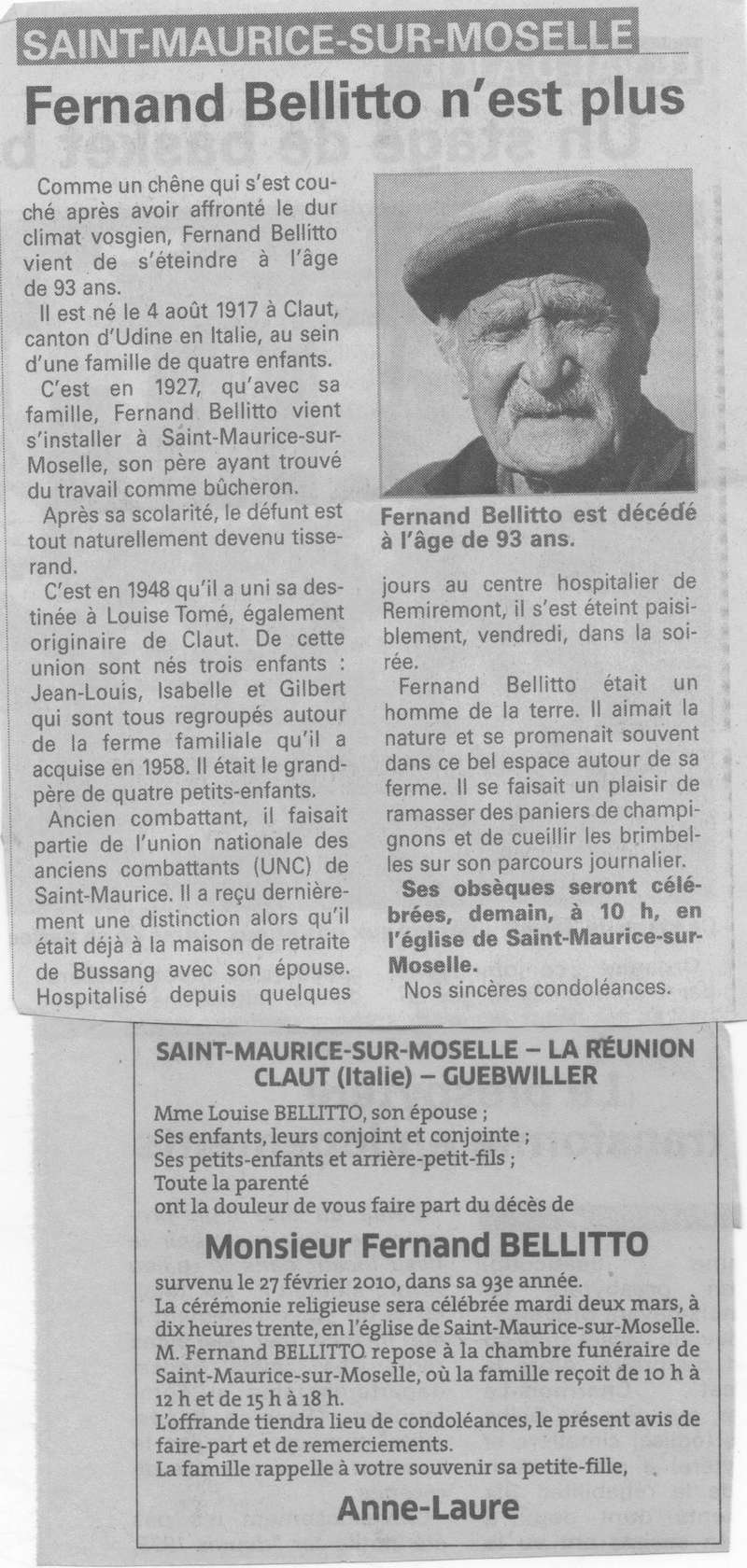 SAINT MAURICE SUR MOSELLE - SOUVENIRS DE FERNAND BELLITO 4_00111