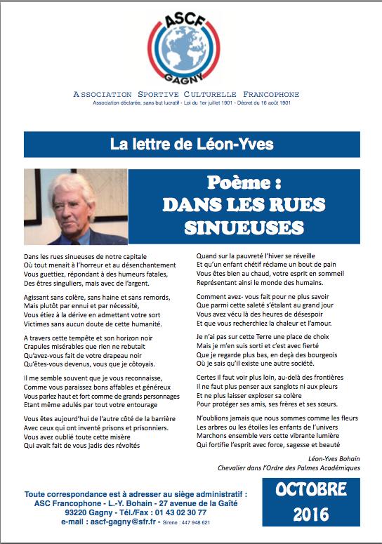 Léon-Yves Bohain Président de la ASCF Lettre10