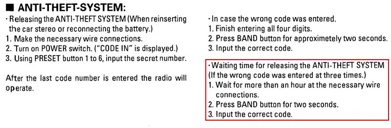 problème auto radio Code10
