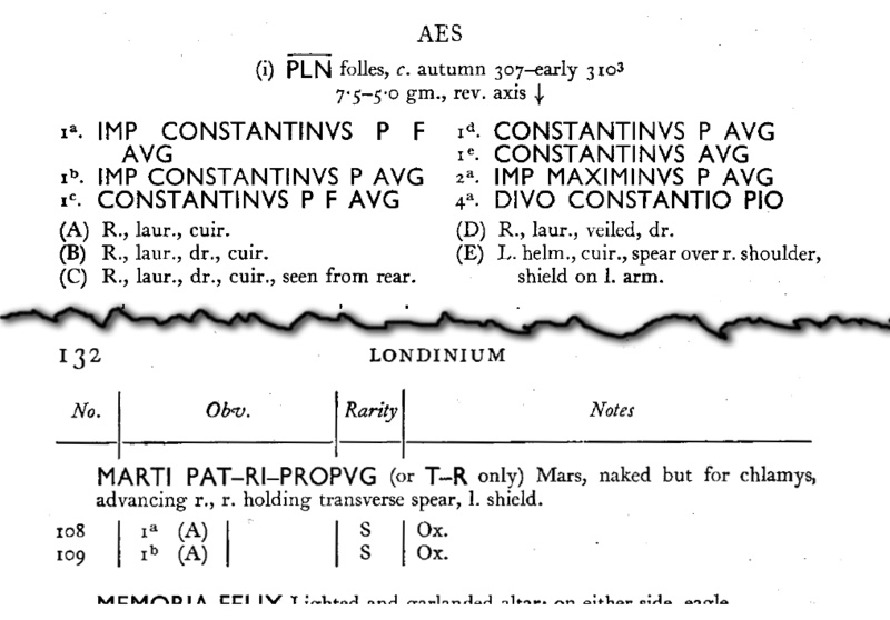 IMP CONSTANTINUS F AVG  - MARTI PATRI PROPVG Ric_vi11