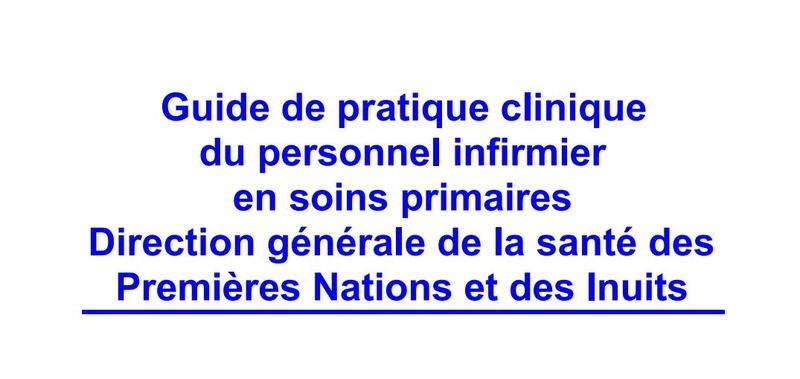 Guide de pratique clinique du personnel infirmier en soins primaires   Captur11