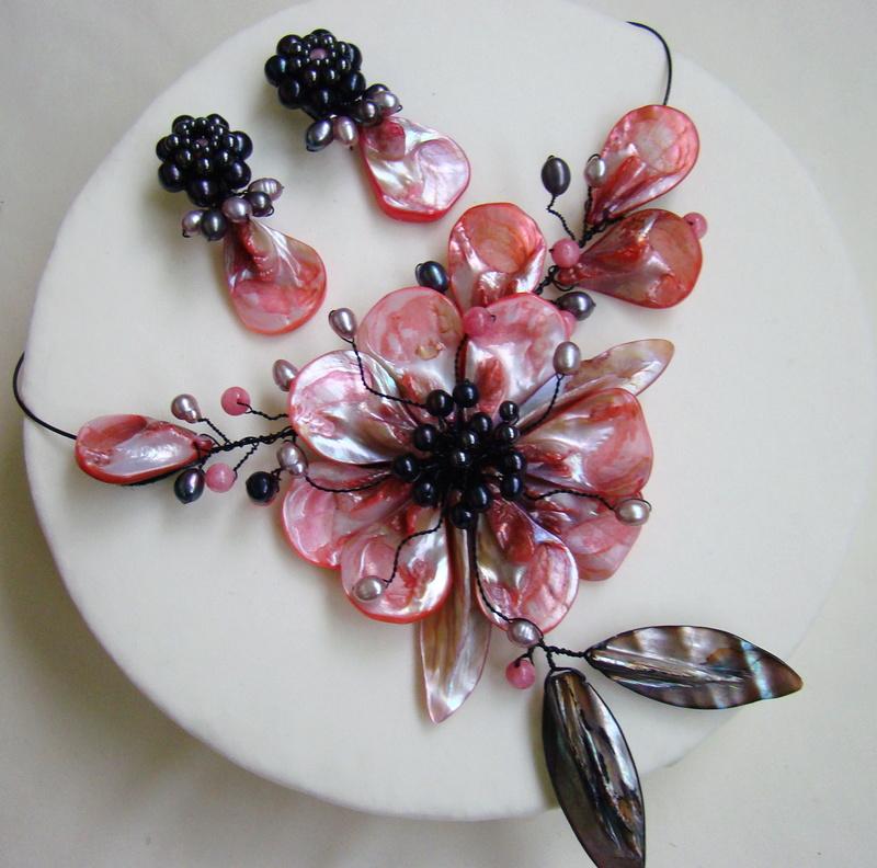 """""""Flori de piatră-Bijoux"""" albumul I-bijuterii artizanale marca Didina Sava - Pagina 3 Colier44"""