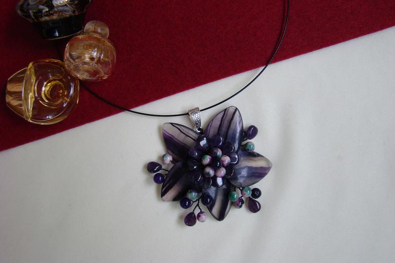 """""""Flori de piatră-Bijoux"""" albumul I-bijuterii artizanale marca Didina Sava - Pagina 3 Colier62"""
