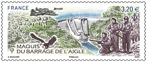 Timbre barrage de l 'Aigle  10145610