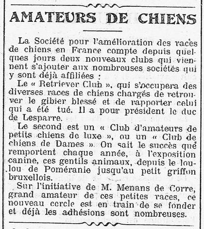 Naissance du Retriever Club, premier Bureau... La_pre10