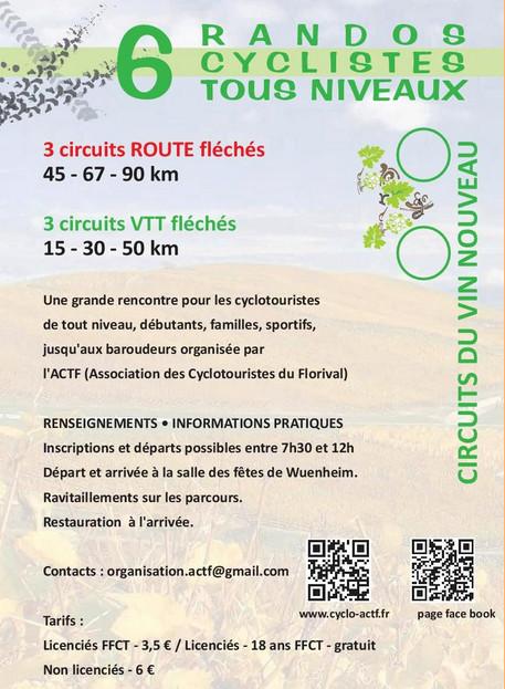Circuits du vin nouveau à Wuenheim dimanche 02 octobre Circui14
