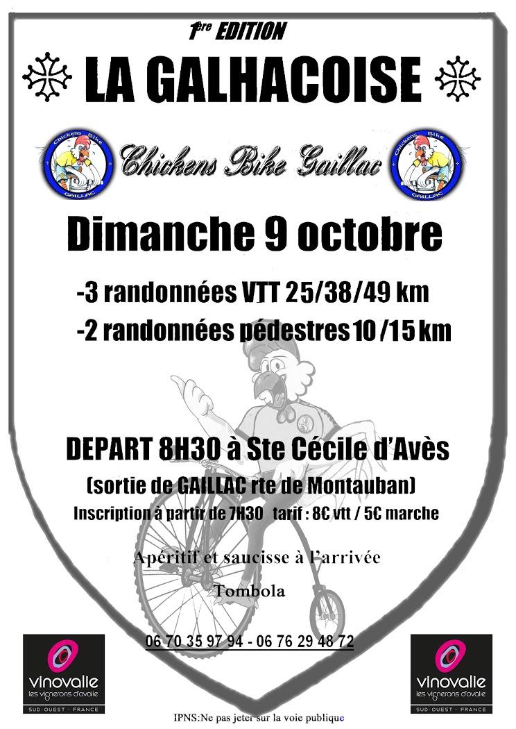 Rando pédestre et vtt à Gaillac le 09 octobre 2016 Affich10