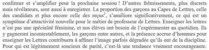 """Capes Lettres 2016 : L'étrange passage du rapport de Patrick Laudet sur la féminisation du métier et son """"image dégradée"""". Capes_10"""