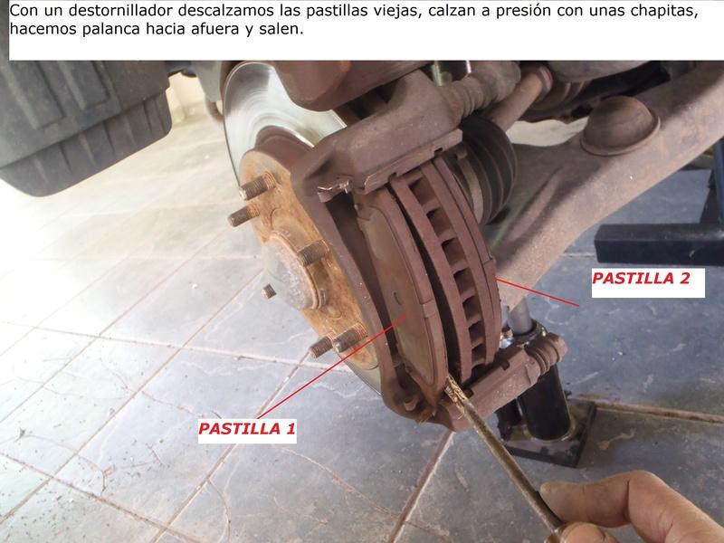 TUTORIAL CAMBIO PASTILLAS DE FRENO DELANTERAS TRITÓN Pa226217