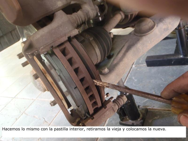 TUTORIAL CAMBIO PASTILLAS DE FRENO DELANTERAS TRITÓN Pa226223