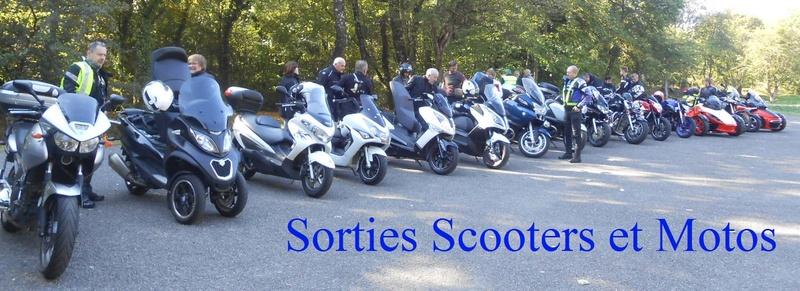 SORTIES EN SCOOTERS ET  MOTOS