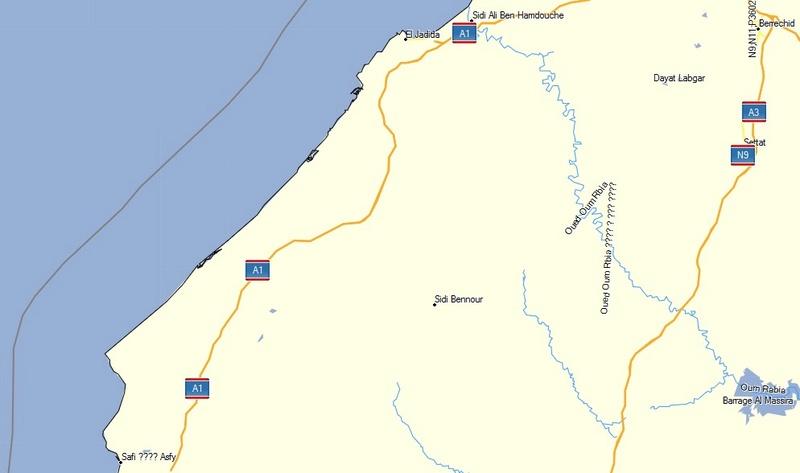 [Carburant, Routes, Police] Autoroute Mohammedia SAFI A1_1en10