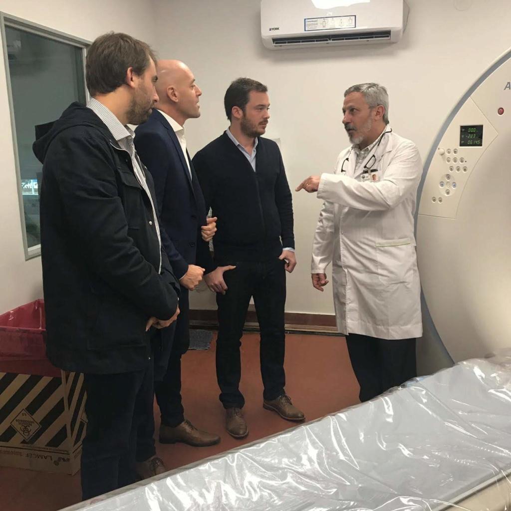 José C. Paz: nuevo tomógrafo en el Hospital Mercante. 00156