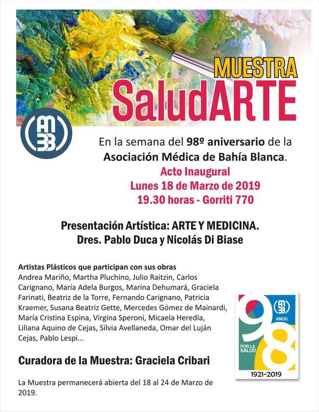SALUDARTE: NUEVA MUESTRA DE ARTE DE LA ASOCIACIÓN MÉDICA DE BAHÍA BLANCA _car9511