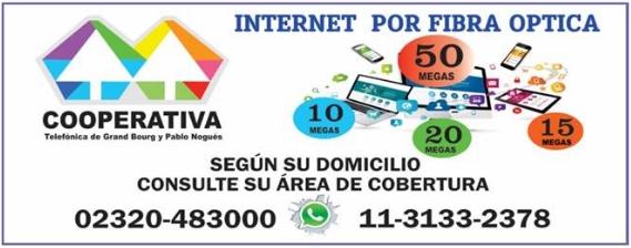 """grand - El mejor servicio te lo brinda la """"Cooperativa Telefónica de Grand Bourg y Pablo Nogues"""". Aviso107"""