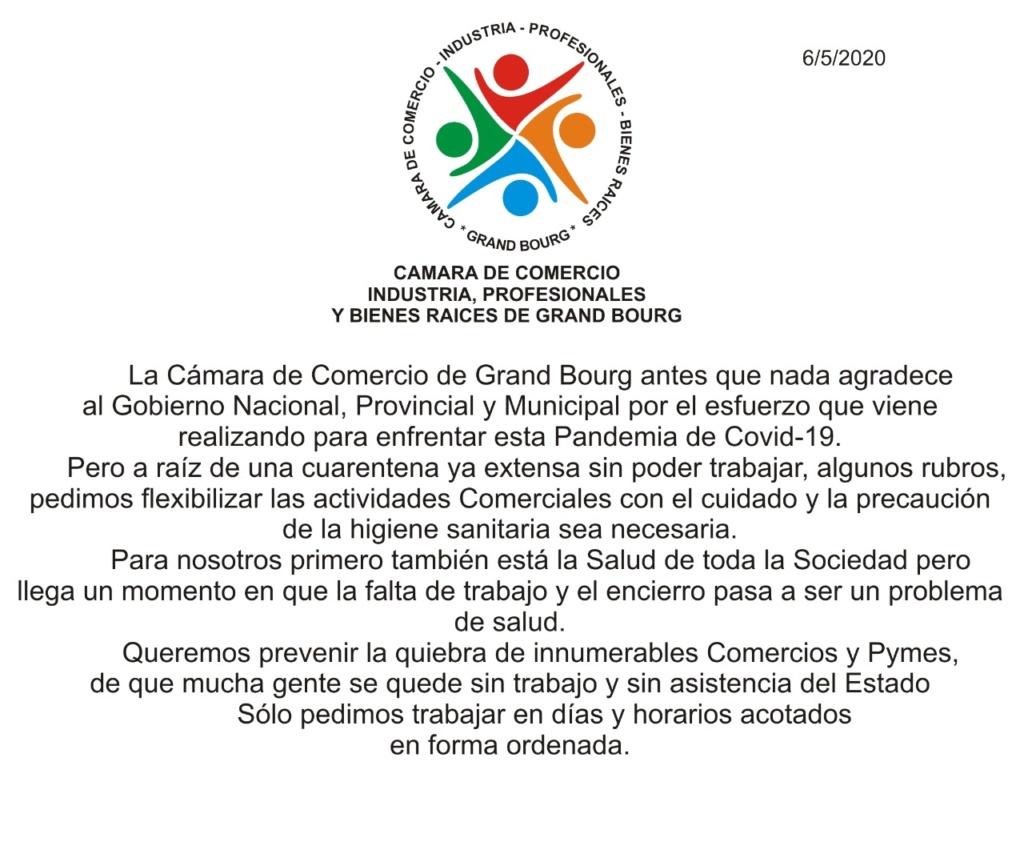 Malvinas Argentinas. Cámara de Comercio, salud y flexibilización. Aviso205