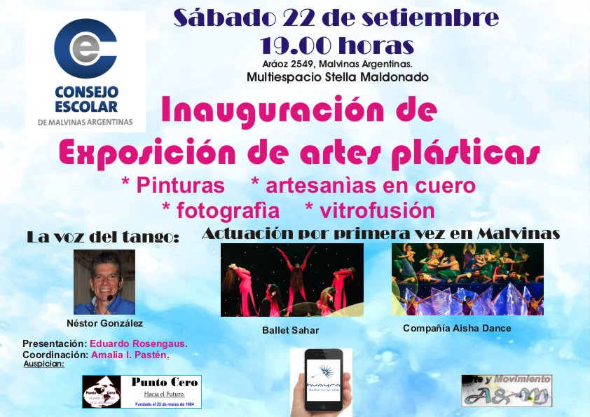 Malvinas Argentinas. El sábado, inauguran exposición, con entrada libre y gratuita. Aviso_52