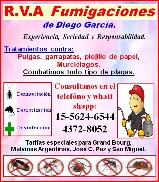 """Si de asepsía se trata... """"R.V.A. Fumigaciones"""". Aviso_97"""