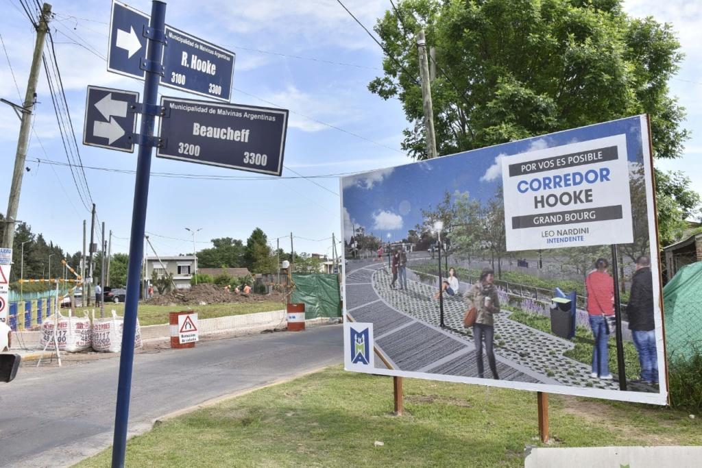 Malvinas Argentinas: Nardini visitó la obra del nuevo Corredor Hooke. Img-2022