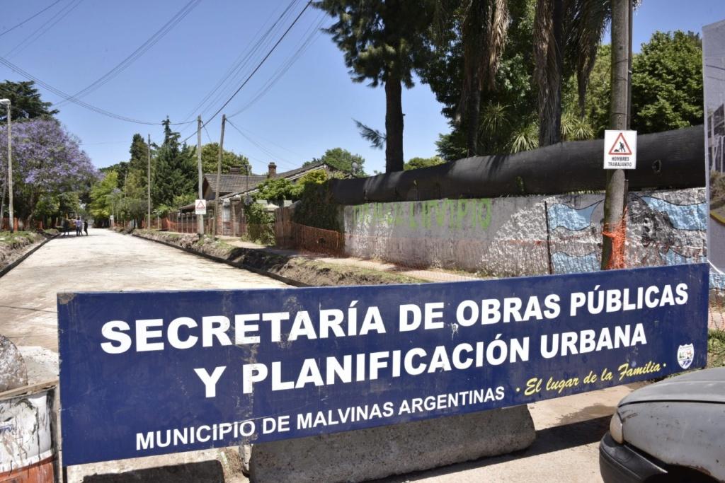 Malvinas Argentinas: Pavimentación de Las Araucarias. Img-2024