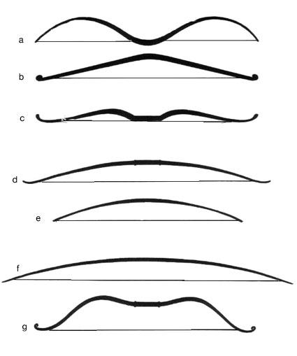 Les différents types d'arcs Arcsty10