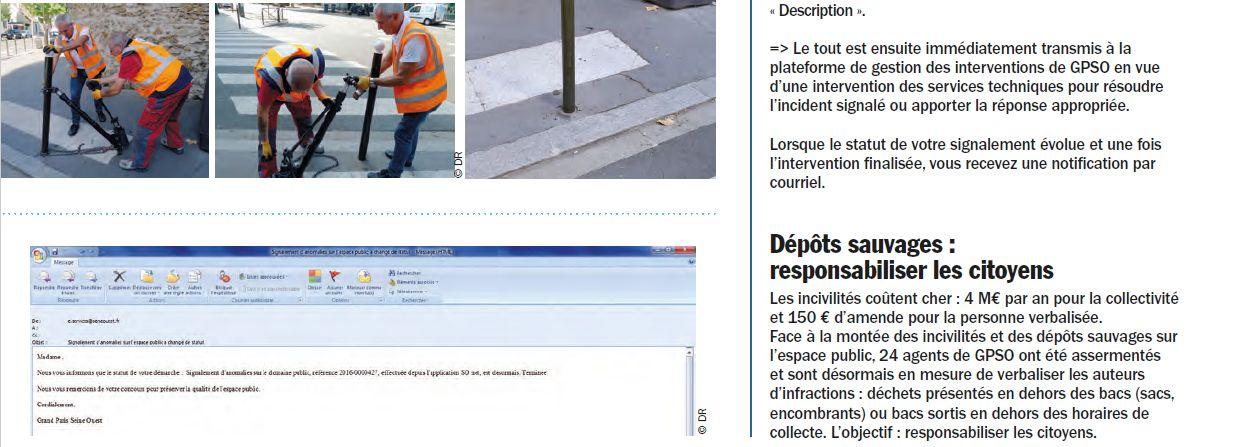 Signalement des problèmes dans le quartier - Application So Net Clipb189