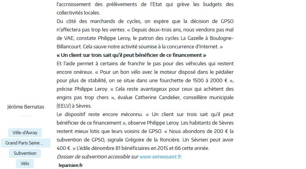 Subvention à l'achat de vélos à assistance électrique Clipb266