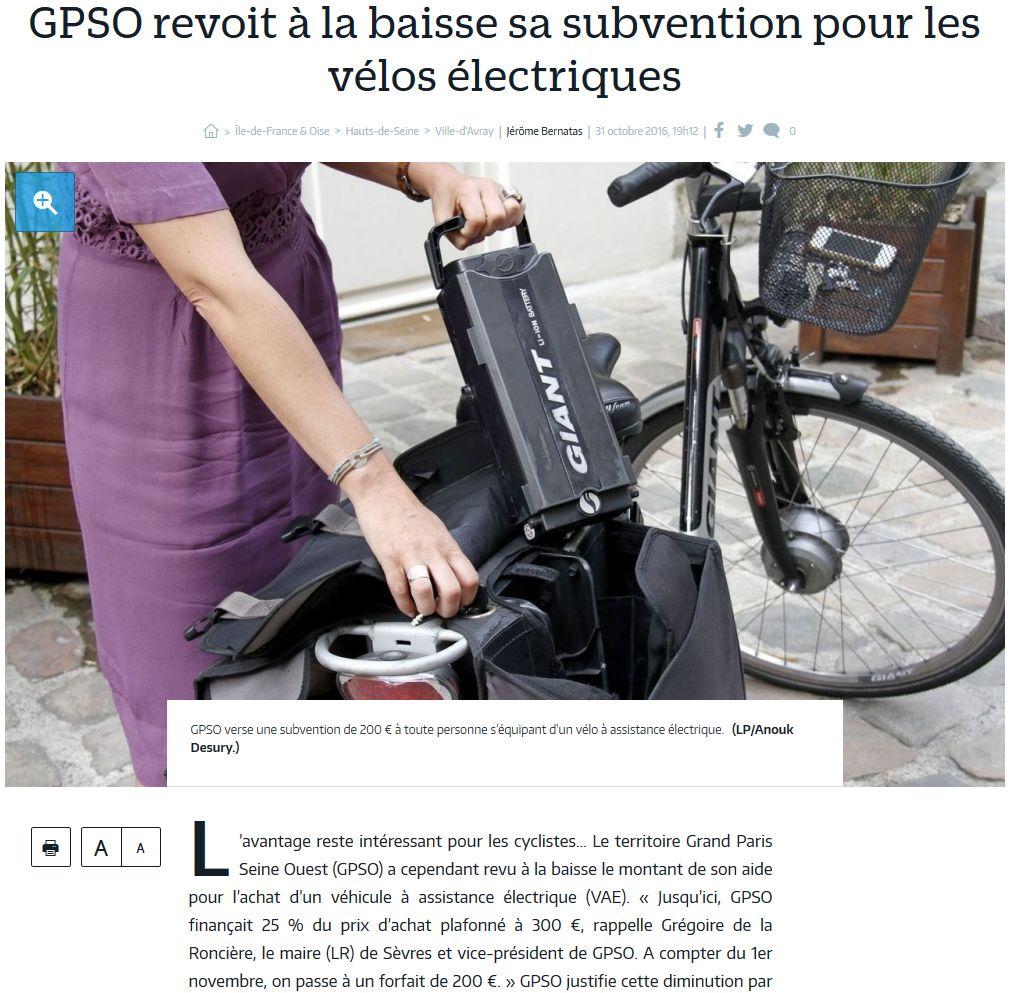 Subvention à l'achat de vélos à assistance électrique Clipb267