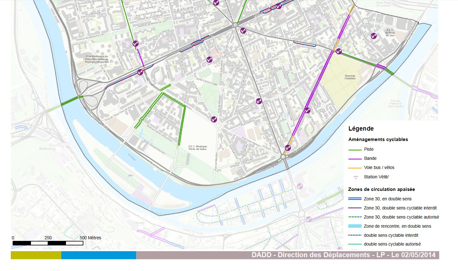 Carte des pistes cyclables Clipbo44