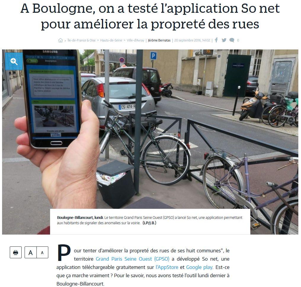 Signalement des problèmes dans le quartier - Application So Net Clipbo73