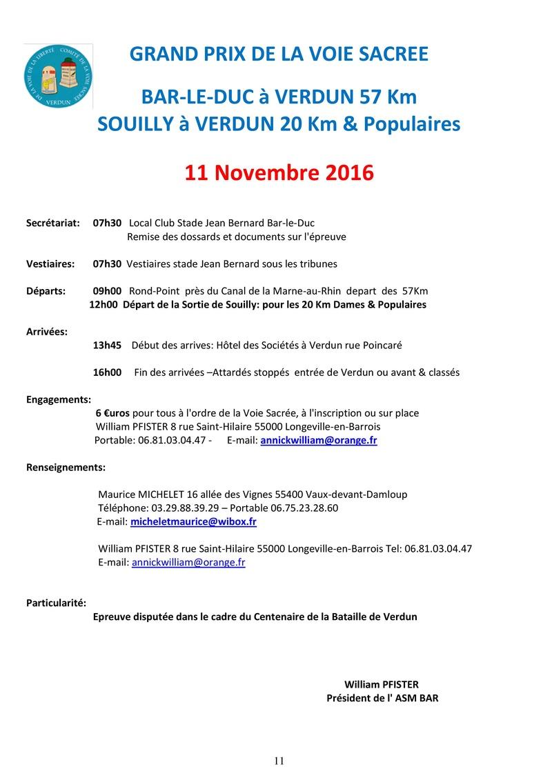 11 novembre - GP de la Voie Sacrée Calend11