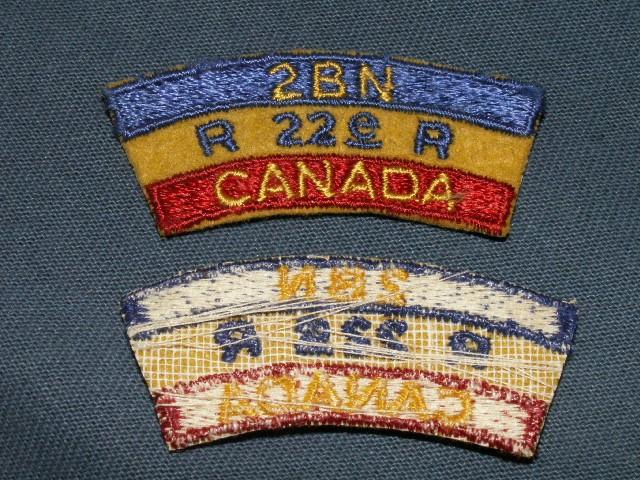 Royal 22e Regiment Shoulder Patches R22er-13