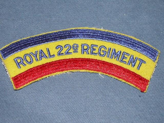 Royal 22e Regiment Shoulder Patches R22er10