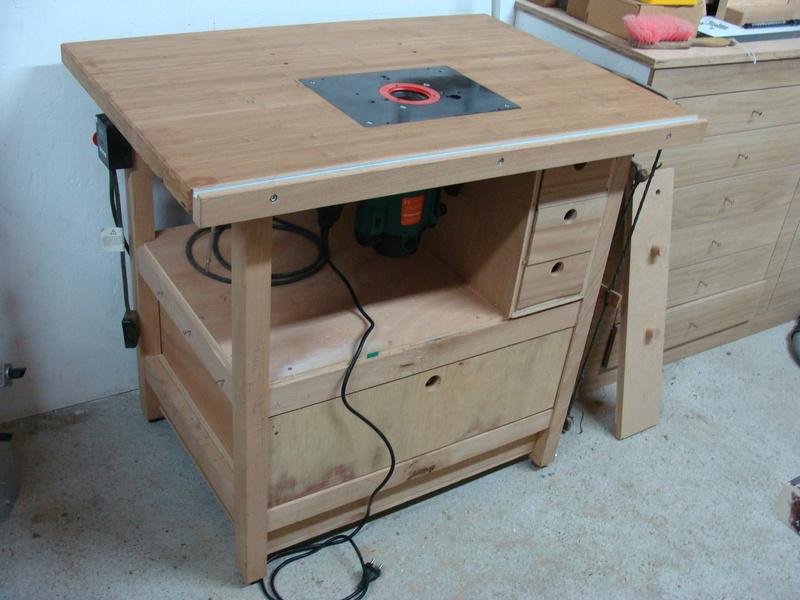 Rénovation table Défonceuse 0110