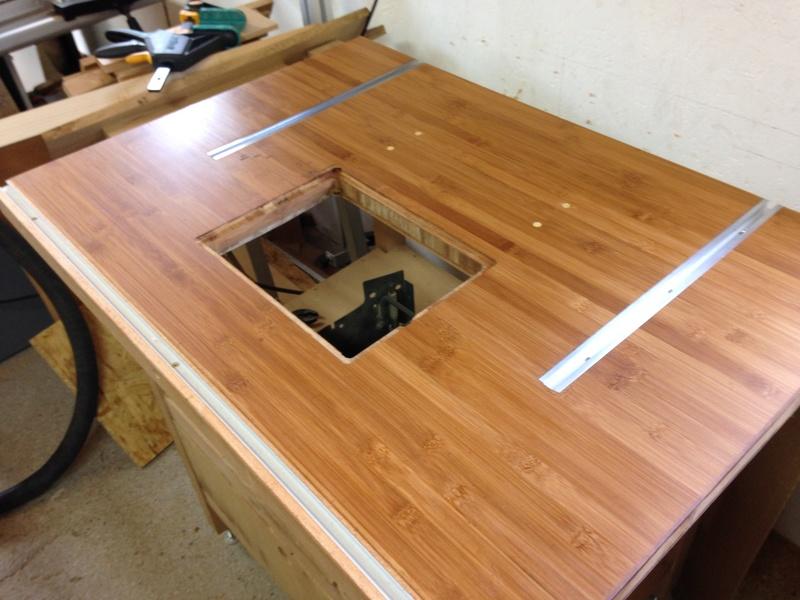 Rénovation table Défonceuse 0411