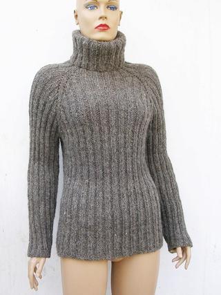 Вязаный свитер-водолазка 100% шерсть Dscn4312